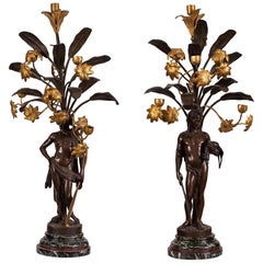 Very Fine Pair of French Six-Light Candelabra