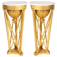 Very Fine Pair of Italian Neoclassical Guéridons or Side Tables Tuscany, 1830
