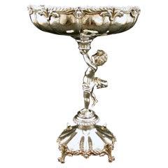A Very Fine and Heavy Portuguese Silver Rococo Inspired Centrepiece, Circa 1940