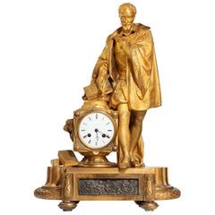 Very Fine Quality 19th Century Gilt Bronze and Bronze Mantel Clock