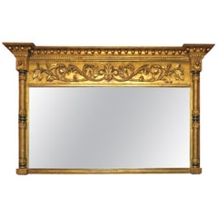 Very Fine Regency Period Giltwood Over-Mantel Mirror, England Circa 1825