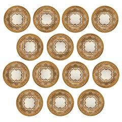 Very Fine Set of Fourteen Early 20th Century English Cauldon Bread Plates