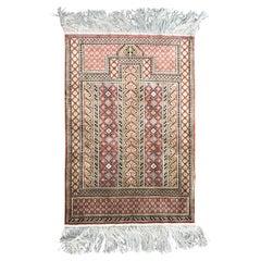 Very Fine Turkish Silk Rug Hereke Style