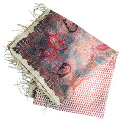 Very Finely Woven Wool Printed Paisley Throw