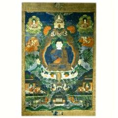 Very Good 18th-19th Century Sino-Tibetan Thangka of Buddha Nagaraja