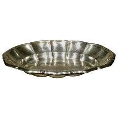 A Very Attractive Art Deco Austrian Silver Fruit Bowl / Bread Tray, Circa 1925