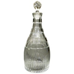 A Very Good Art Deco Cut Glass Decanter, England Circa 1910