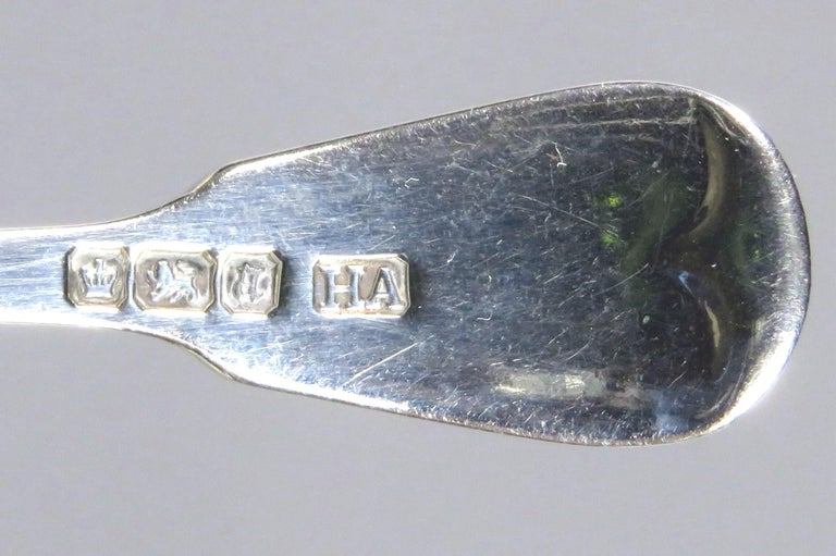 19th Century Very Good Victorian Sterling Silver Tea Caddy Spoon, Hallmarked Sheffield 1893 For Sale