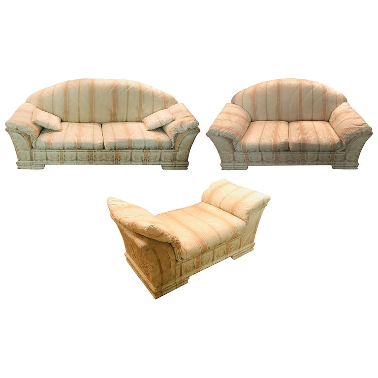 Very High-Quality Couch Set from the Bielefeld Workshops with Baroque Patterns For Sale