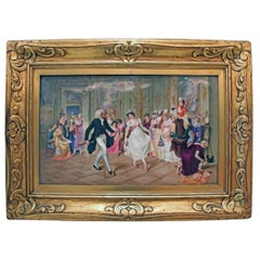 "Very Important KPM Porcelain Painted Plaque, ""The Dance Lesson"""