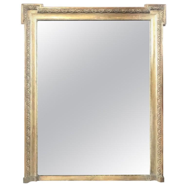 Very Impressive 19th Century Louis XIV Giltwood Mirror