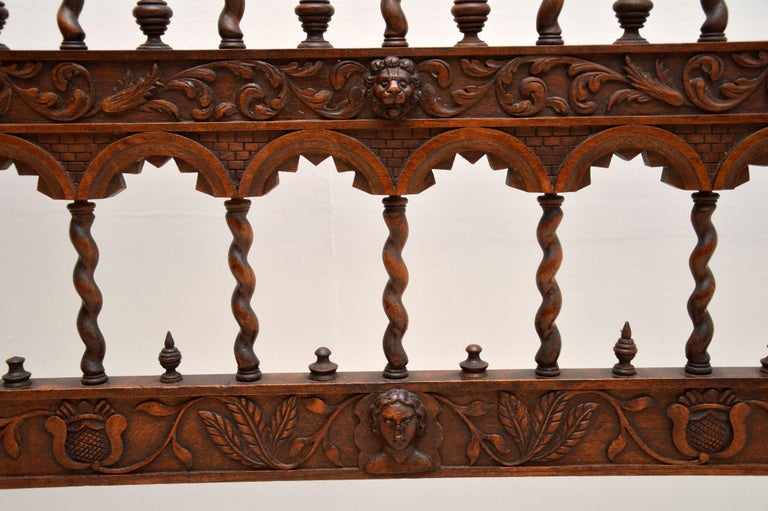 Very Impressive Antique Finely Carved Walnut Settee For Sale 1