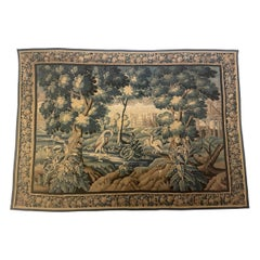 Very Impressive Late 17 Century Aubusson Wool Tapistry
