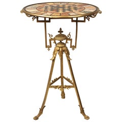 Very Interesting Late 19th Century Gilt Bronze Specimen Marble-Top Game Table