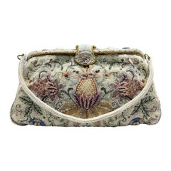 Very intricate micro-bead handbag with 'floral' design', Capion, Paris, 1950s