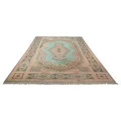 Very Large 16 Foot Vintage Keshan Rug, Persian, Room Sized, Decorative, Carpet