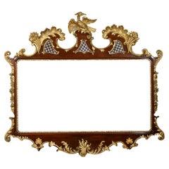 Very Large 18th Century Style Mahogany and Gilt Wall Mirror