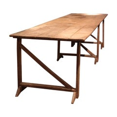Very Large 1940s French Vendange Table