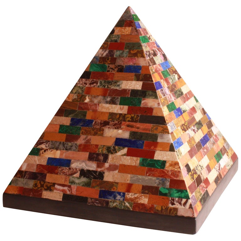 Very Large 19th Century Grand Tour Specimen Pyramid For Sale