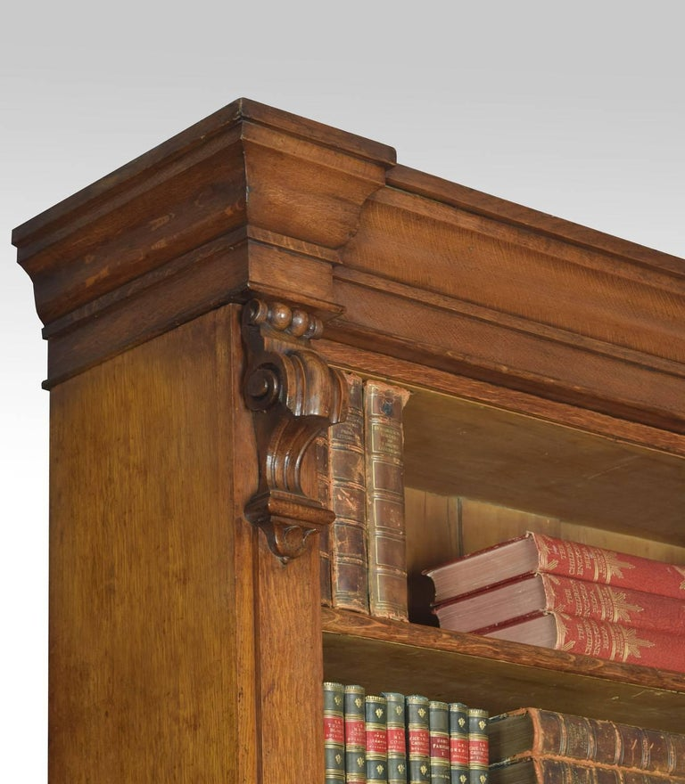 Very Large 19th Century Light Oak Bookcase For Sale 2