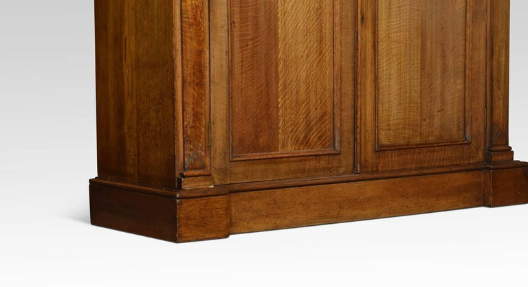 Very Large 19th Century Light Oak Bookcase For Sale 3