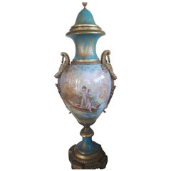 Very Large 19th Century Sevre Style Vase
