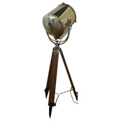 Very Large 19th Century Vintage Nautical Search Light or Spot Light by G Vieira