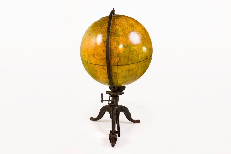 Neoclassical Very Large 19th Century World Globe, France For Sale