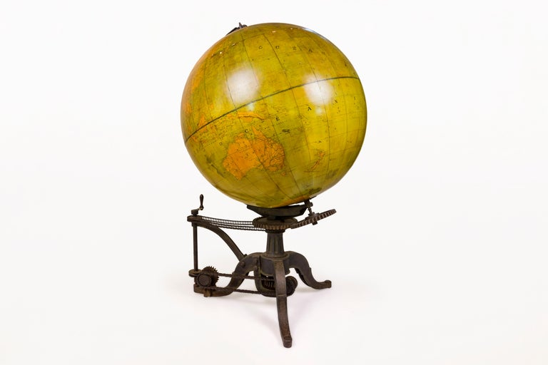French Very Large 19th Century World Globe, France For Sale