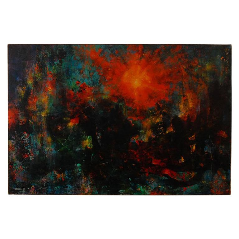 Very large abstract  painting by Leonardo Nierman For Sale