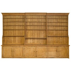 Very Large Antique Dresser Victorian, Pine, Kitchen Cabinet Bookcase, circa 1850