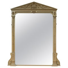 Very Large Antique Overmantel Mirror, Classical, circa 1850