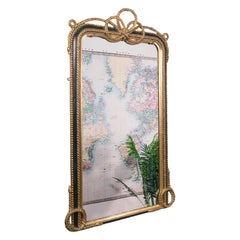 Very Large Antique Wall Mirror, English, Gilt, Overmantel, Dressing, Regency