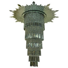 Very Large Art Deco Chandelier from the Original Adelphi Building, London
