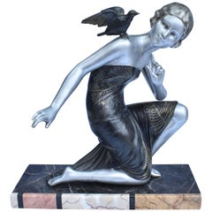 Very Large Art Deco Signed Figure by URIANO, circa 1930