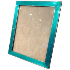 Very Large Art Deco Silver and Enamel Photograph / Picture Frame