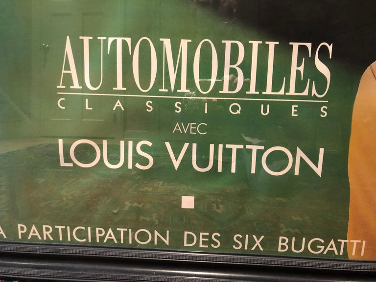 Very Large Bold and Glamorous Art Deco Louis Vuitton and Bugatti Poster In Good Condition For Sale In Hopewell, NJ