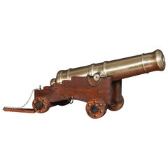 Very Large Brass Signal Cannon