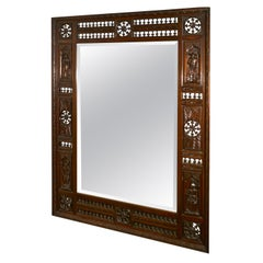 Very Large Bretton Carved Oak Wall Mirror