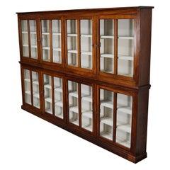 Very Large British Mahogany Museum Cabinet or Shop Vitrine, 1930s