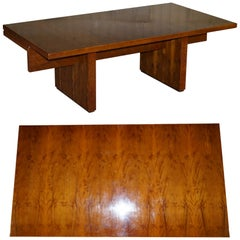Very Large Burr Yew Wood Contempory Designer Office Desk Lovely Timber Patina