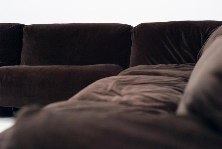 Mid-Century Modern Very Large Cassina Fiandra Modular Sofa For Sale