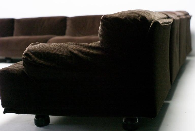 Late 20th Century Very Large Cassina Fiandra Modular Sofa For Sale
