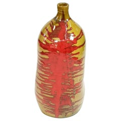 Very Large Ceramic Floor Vase, Mid-Century Modern Style, 1970's
