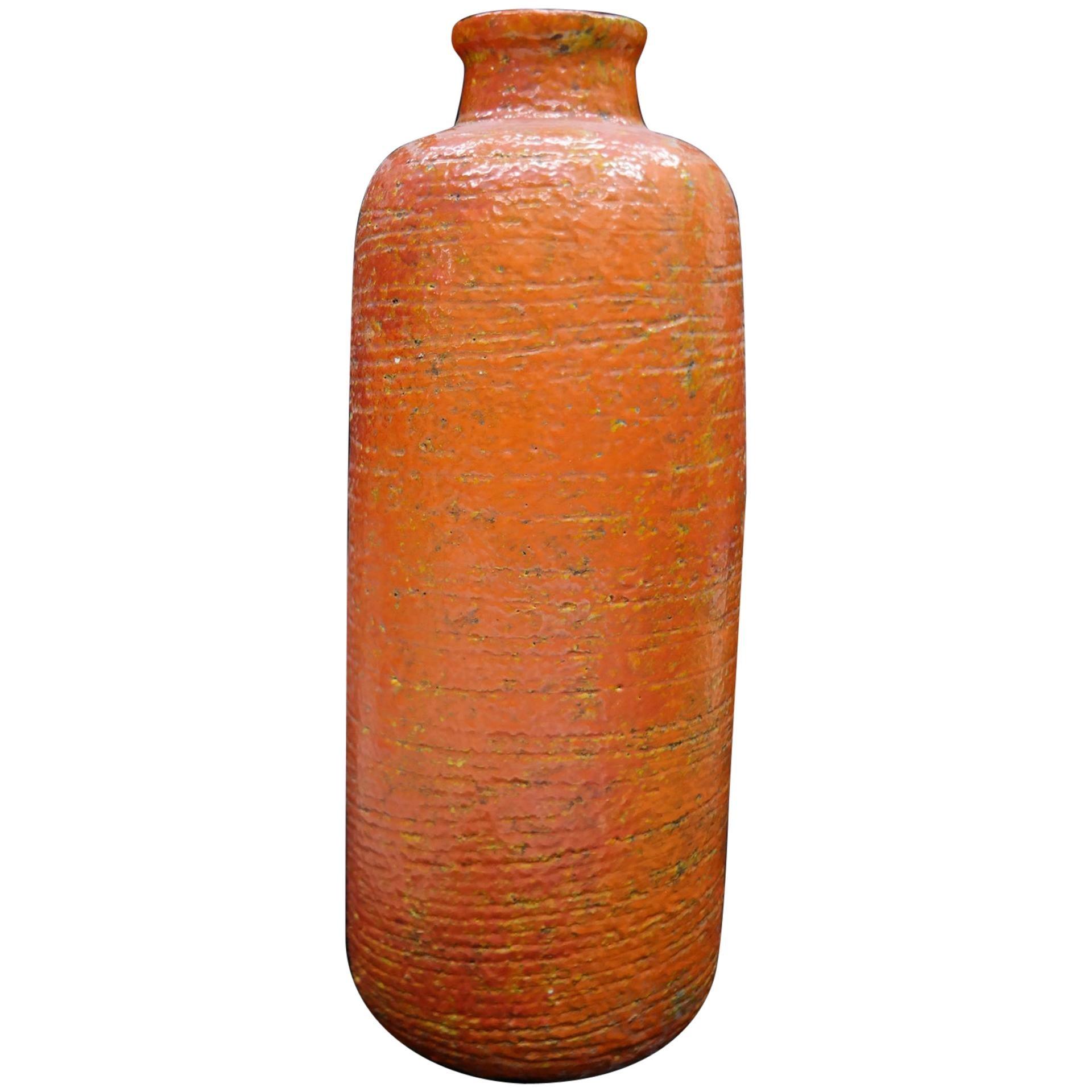 Very Large Ceramic Midcentury Floor Vase, 1970s