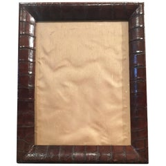 Very Large Edwardian or Art Deco Crocodile Skin Photograph Frame