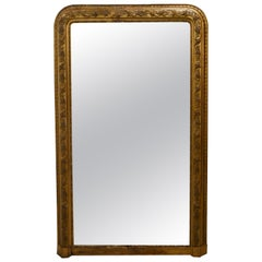 Very Large French 19th Century Louis Philippe Gold Mirror