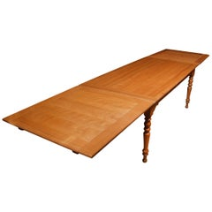 Very Large Fruitwood Farmhouse Table