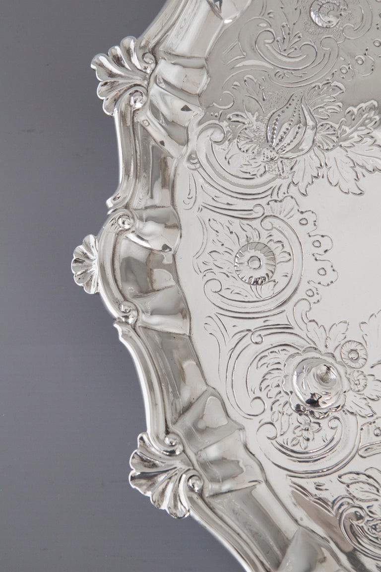 Very Large Georgian Silver Salver or Tray, London, 1810 For Sale 8