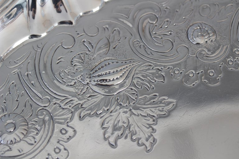 Very Large Georgian Silver Salver or Tray, London, 1810 For Sale 9